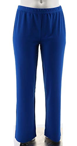 Linea Louis Dell'Olio Ponte Knit Pants Elastic Waist Limoges Blue 1X New A233639 from Linea by Louis Dell'Olio