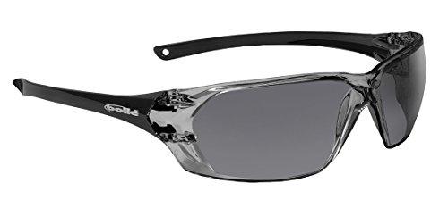 Bollé Safety 253-PR-40058 Prism Safety Eyewear with Shiny Black Rimless Frame and Smoke Anti-Scratch/Anti-Fog Lens from Bolle