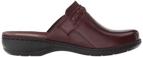 Burgundy M Women's Leather Us 110 Clog Carly Clarks Leisa xUI0wp