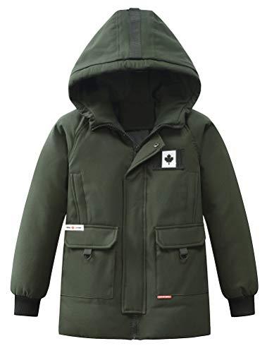- Mallimoda Big Boy's Winter Hooded Jacket Puffer Down Outwear Coat Green 13-14 Years