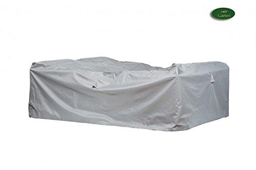 Gartenmöbel Schutzhülle/Abdeckung - Premium L/XL (250 x 200 x 80 cm) Wasserdichte Abdeckplane für Loungegruppe/Oxford 600D Polyestergewebe/mit Ventilationsöffnungen