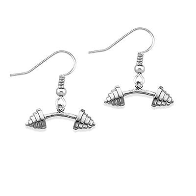 Dumbbell Earrings, Barbell Earrings, Bodybuilding, Fitness Jewelry, Barbell Jewelry