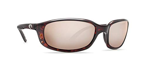 - Costa Del Mar Brine Sunglasses Tortoise/Copper Silver Mirror 580Glass