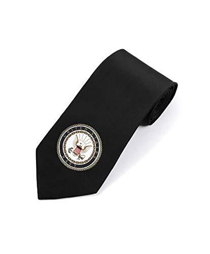 Men's United States US Navy Seal Emblem Military Necktie Tie (Black)