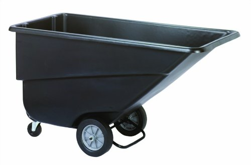 Continental 5833BK, Standard Duty 1.1 Cubic Yard Tilt Truck with Roller Bearings and Casters, 800-lb Capacity, 72-1/2