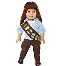 GIRLS SCOUTS BROWNIE PANTS OUTFIT FOR AMERICAN GIRL DOLLS AND MAPLELEA