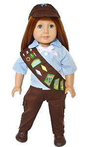My Brittany's Girl Scouts Brownie Outfit for American Girl Dolls- 18 Inch Doll Clothes
