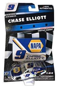 NASCAR 2019 Authentics Chase Elliott #9 NAPA Camaro 1/64 Scale Diecast with Bonus Magnet Collector - Flag Diecast Checkered