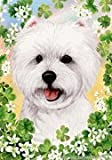 "Cheap West Highland White Terrier by Tamara Burnett St. Patricks Day Garden Dog Breed Flag 12"" x 17″"