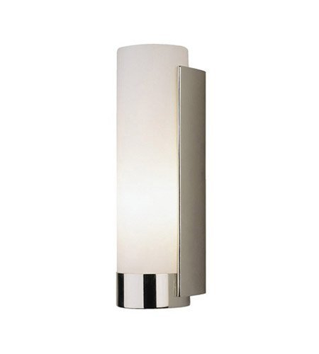 Robert Abbey S1310 Sconces with White Frosted Glass Shades, Polished Nickel - Tyrone Glass