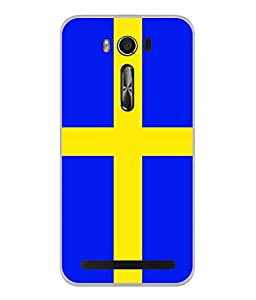 ColorKing Football Sweden 02 Blue shell case cover for Asus Zenfone 2 Laser ZE550KL