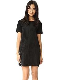 Velvet by Graham and Spencer Women's Reya Faux Suede Dress Black