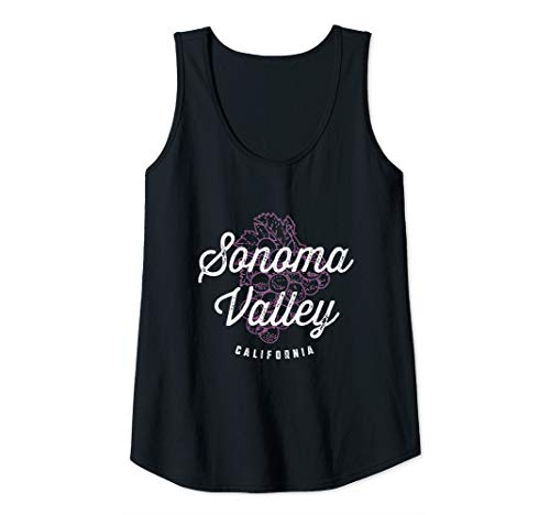 Womens Sonoma Valley California Wine Country Vintage Tank Top
