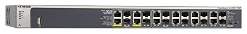 NETGEAR 12-Port Gigabit Ethernet Fully Managed PoE Switch (GSM7212F) - with 4 x PoE+ @ 150W, 12 x 1G SFP (shared), Desktop/Rackmount, and ProSAFE Lifetime Protection, M4100 Series
