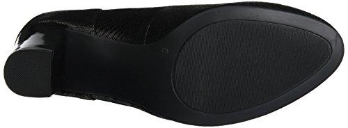 Caprice 22404, Zapatos de Tacón para Mujer Negro (Black Reptile)