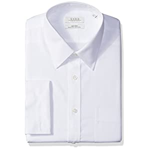 Enro Men's Big and Tall Classic Fit Solid French Cuff Dress Shirt