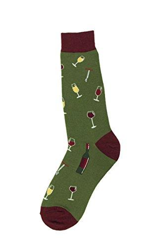 Foot Traffic - Mens Beverage-Themed Socks, Wine (Shoe Sizes 7-12)
