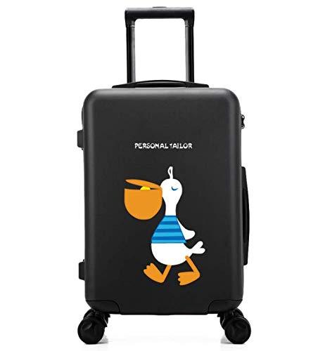 傷防止ユニバーサルホイールトロリーケース、小さくて新鮮な24インチのスーツケース (Color : ブラック)  ブラック B07QGVCWJ2