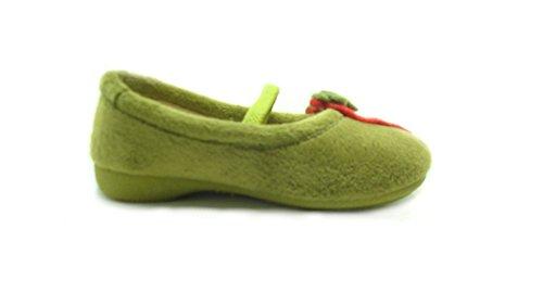 Grünland Junior , Chaussons pour fille Vert vert -