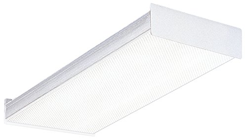 Fluorescent Light Around Wrap (Lithonia Lighting Fluorescent Square 2 lamp, 2 feet, 120V Wraparound Light, 17W T8)