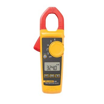 Fluke 324 40/400A AC, 600V AC/DC True-RMS Clamp Meter with Temperature, & Capacitance Measurements 400a Digital Clamp