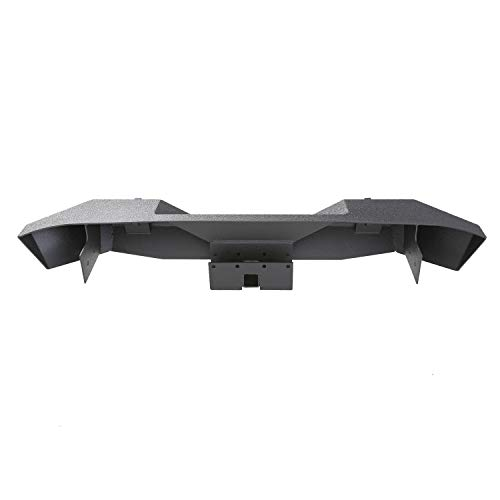 Smittybilt 76855 XRC Textured Black Rear Bumper with 2