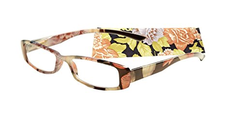 ICU Wink Floral Reading Glasses With Soft Case