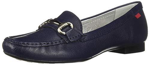 Marc Joseph New York Women's Grand Street Driving Style Loafer Fast Blue Grainy