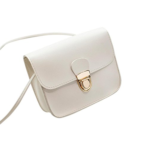 Best for Bag Friends Beautiful Fashion Color Bag Crossbody Children Classmate Shoulder Phone Cover White Bag Solid Gifts Women and BANAA Lock ZOHnxY44