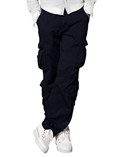 (Match Men's Cargo Pants(40,Blue))