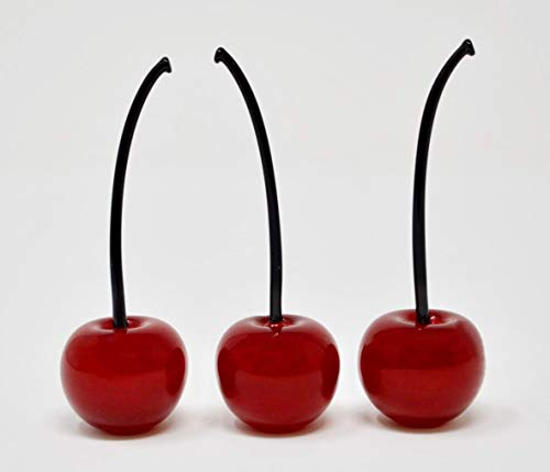 Murano Glass Lifelike Cherries (Set/3) - Handmade In Murano, ()