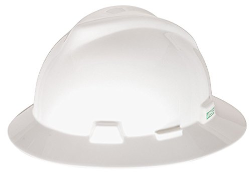 MSA Safety 475369 V-Gard Protective Hat with Fas-Trac Suspension, White, Standard from MSA