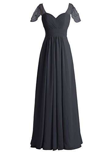 Bbonlinedress Vestido Mujer Largo Fiesta Noche Boda Madrina Escote Corazón Negro