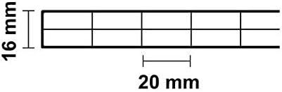 16//20//3 ECO 1200mm x 3500mm klar Polycarbonat ECO Stegplatte 16mm Steg 3-Fach