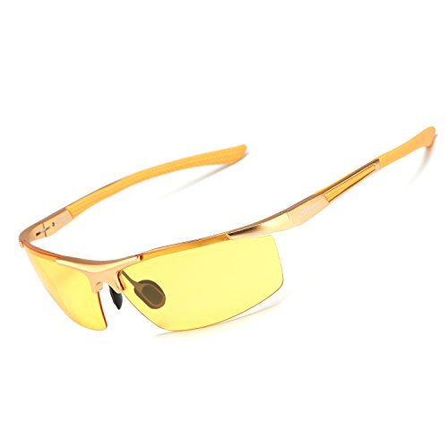93bb9f66357d Men s HD Night Driving Glasses Anti Glare Polarized Sunglasses for Outdoor  Fishing