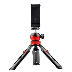 RetinaPix DIGITEK® DTR 200 MT (18 CM) Portable & Flexible Mini Tripod with Mobile Holder & 360 Degree Ball Head | For Smart Phones | Compact Cameras | GoPro | Maximum Operating Height: 7.87 Inch| Maximum Load Upto: 1 kgs(DTR-200MT)