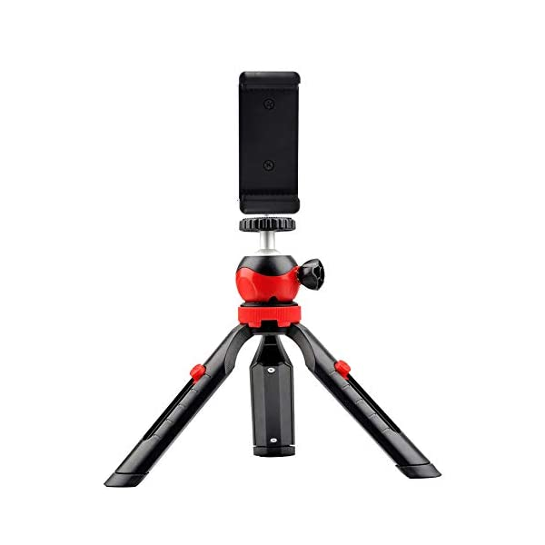RetinaPix DIGITEK® DTR 200 MT (18 CM) Portable & Flexible Mini Tripod with Mobile Holder & 360 Degree Ball Head   For Smart Phones   Compact Cameras   GoPro   Maximum Operating Height: 7.87 Inch  Maximum Load Upto: 1 kgs(DTR-200MT)
