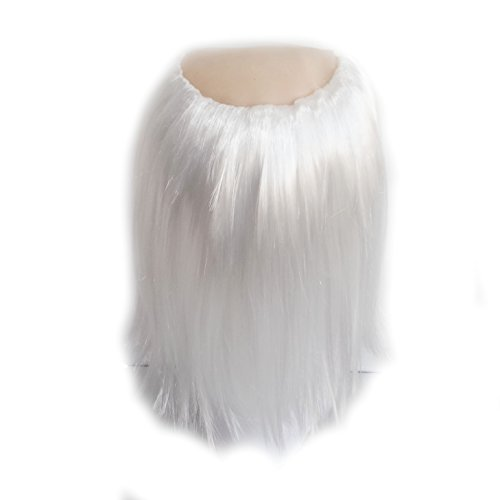 YunKo Older Men Bald Gray Wig Halloween Wig White]()