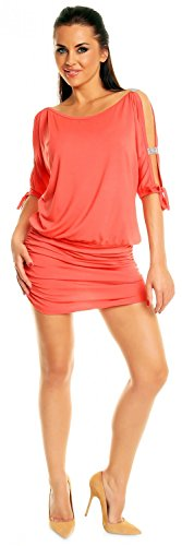 157z les Corail Sexy Robe de Mini Ville paules Femme Robe dgageant Zeta club US1wqPnx