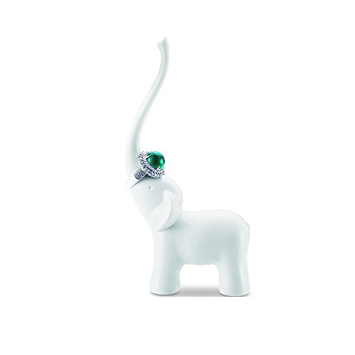 White Melamine Elephant Ring Holder