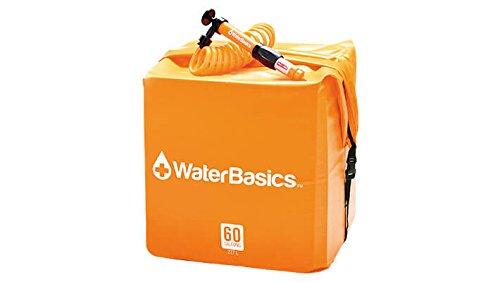 WaterBasics Emergency Water Storage Kit w/Filter (60 gal, (Water Storage Drum)