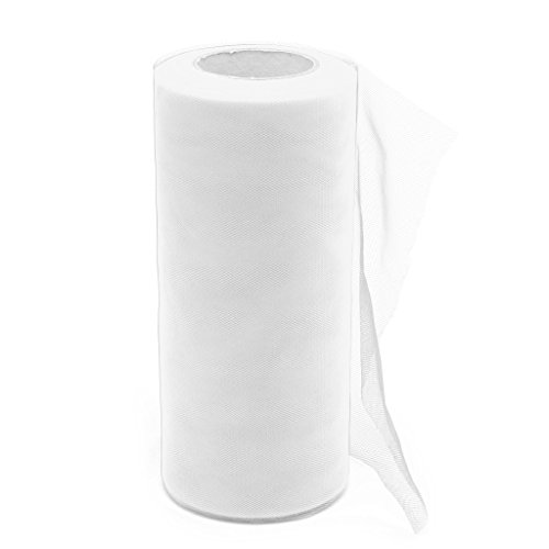 Peachshop Tulle Fabric Netting Roll Spool For Wedding Party Decor DIY Craft ,6
