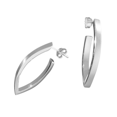 VINANI Creolen Navic XL Silber 925 Ohrringe CNX