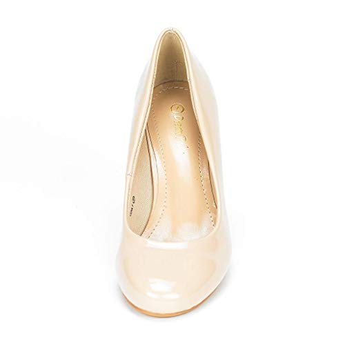 DREAM PAIRS Women's Luvly Bridal Wedding Party Low Heel Pump Shoes