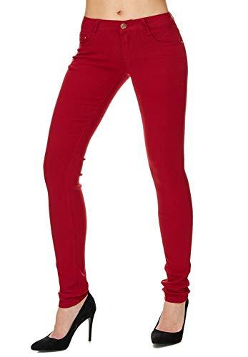 ArizonaShopping - Hosen Donna Treggings Jeans Skinny Hipsters tubo tubi D1701 Chiaretto