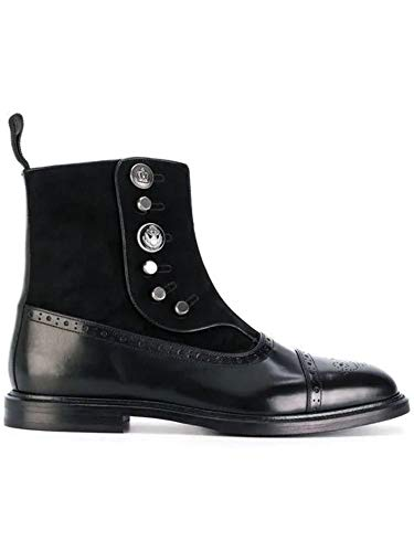 Dolce e Gabbana Men's A60115ab9848b956 Black Leather Ankle Boots Dolce Gabbana Mens Boots