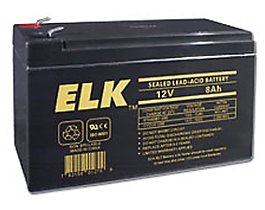 elk elk 1280 12v 8ah sealed lead acid battery. Black Bedroom Furniture Sets. Home Design Ideas