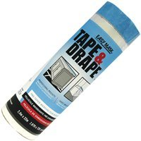 Pre Tape Applicator Mask (Easy Mask Pre-Taped Drop Cloth Plastic 0.5 Mil 96