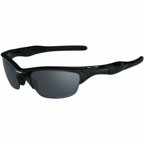 Oakley Men's Half Jacket 2.0 Xl 0OO9154 Polarized Iridium Wrap Sunglasses, MATTE BLACK, 62 - Oakley Wrap Sunglasses