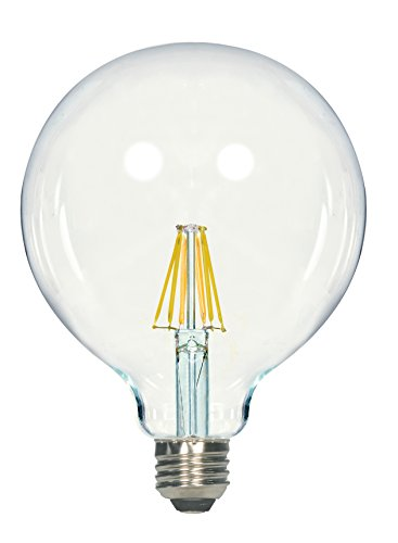 (Satco S9566 G40 LED Clear Medium Base Light Bulb, 6.5W)